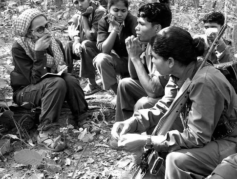 Arundhati Roy interviews Maoists combatants in 2010.