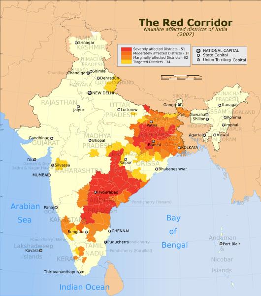India_Red_Corridor_map