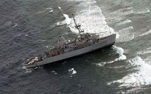 The USS Guardian, a US navy minesweeper, turned into an environmental disaster after it was heavily damaged when it struck a coral reef off the coast of Palawan in the Philippines. Even when not in direct combat, the US Navy harms the Philippines.