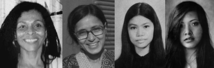 Assata Shakur, Arana Ghandy, Maria Lorena Morelos Barros, Arlen Siu: giants of struggle.