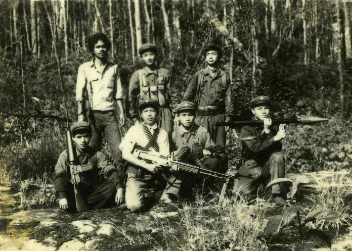 Military cadre of the Communist Party of Thailand in 1979. As the Party moved towards revisionism, it abandoned the Protracted People's War, in spite of its success.